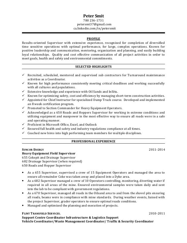 Amazing Suncor Energy Resume Picture Collection - Best Resume ...