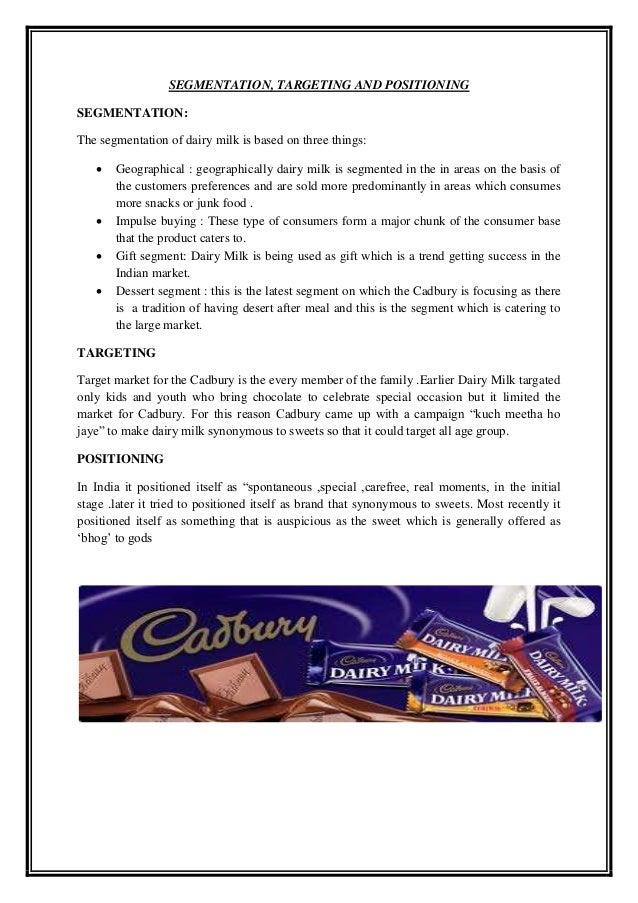 the pure taste of cadbury dairy milk marketing essay Chocolate is a typically sweet, usually brown, food preparation of roasted and  ground cacao  the seeds of the cacao tree have an intense bitter taste and  must be  chocolate is also used in cold and hot beverages such as chocolate  milk and hot  unsweetened chocolate is pure chocolate liquor, also known as  bitter or.