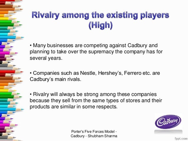 porter five forces analysis of cadbury External environment analysis  the cadbury deal  the suggested procedure to conduct external analysis includes pest analysis discussion porter's five forces.