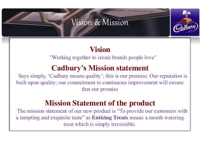 Vision statement of cadbury