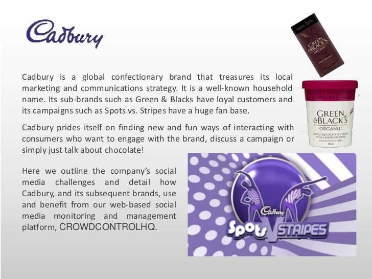 communication strategy cadbury Communication strategy 1 objectives the objectives for communication strategy should be in sync with the objectives of the brand i reach the audience by showing them their reflection, showing moments of small happiness and cheerful moments ii.