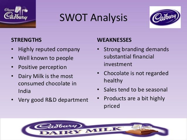 strength and weakness of dairy milk products Key words: milk rural management swot analysis resumo: o setor de produção de leite no brasil é muito heterogêneo (alta tecnologia em grande escala x of dairy products because of obtained results, a spreadsheet with results from the utilized questionnaire (table 2) was developed in order to identify the main.