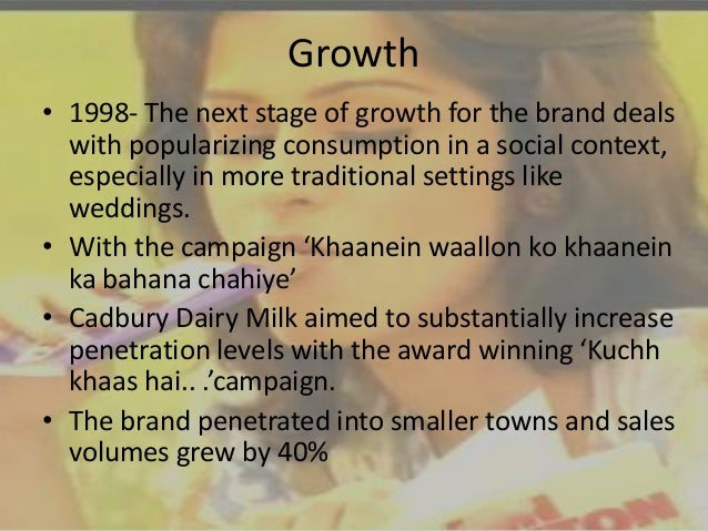 product life cycle stage of cadbury Stages of product life cycle of dairy milk: =about dairy milk- - cadbury chocolates was founded in 1824 - launched dairy milk in 1905 in uk and in 1948 in ind.