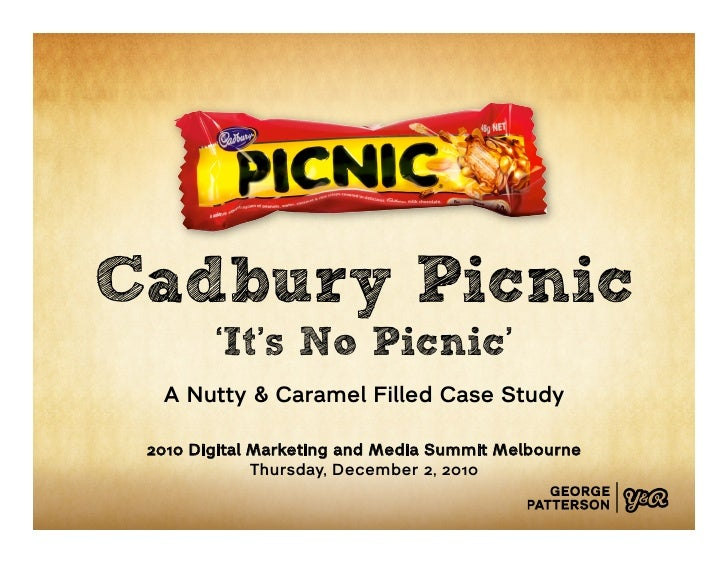 Cadbury Picnic        'It's No Picnic'  A Nutty & Caramel Filled Case Study 2010 Digital Marketing and Media Summit Melbou...