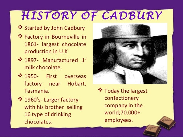 history of cadbury Cadbury no 1: the tiny tank locomotive that started it all by: ian crowder  22nd april 2009 was quite a special day in the history of the gloucestershire warwickshire.