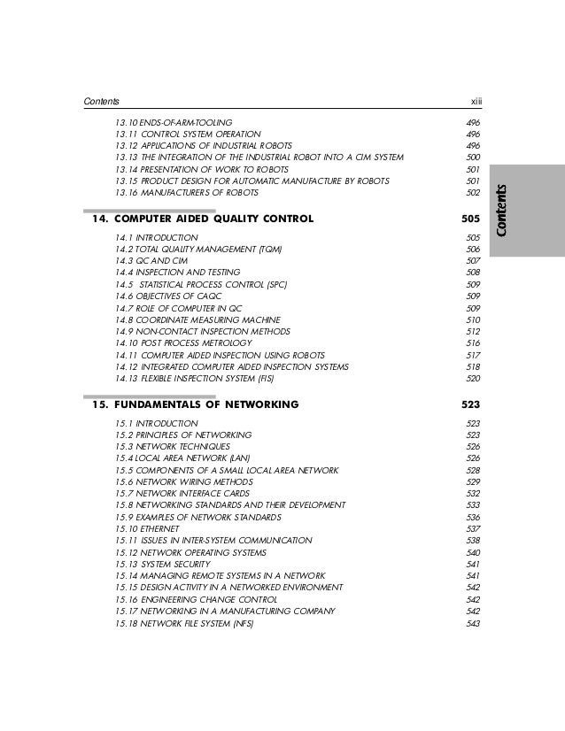 Great This Pageintentionally Left Blank; 15. CHAPTER COMPUTER INTEGRATED  MANUFACTURING An Overview ...