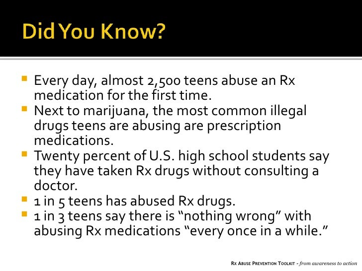 Abusing drug prescription is the wrong