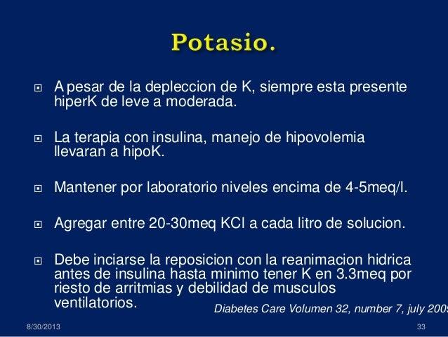 cetoacidosis diabetica, revision de guias manejo ADA