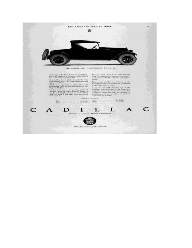 History Of Cadillac Autosmith Car Company