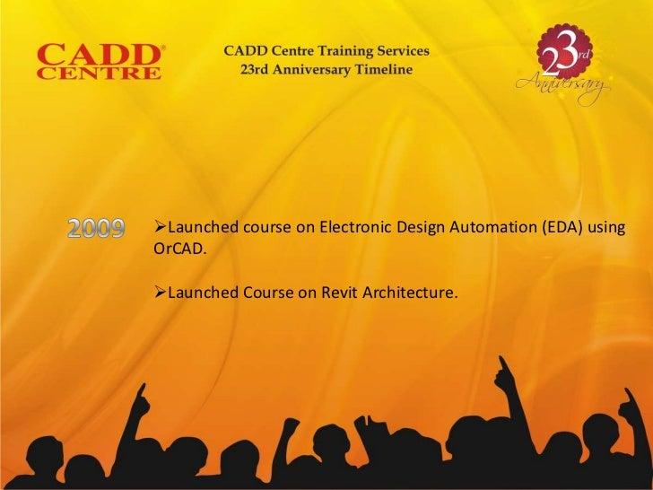 Cadd Centre 23rd Anniversary Timeline
