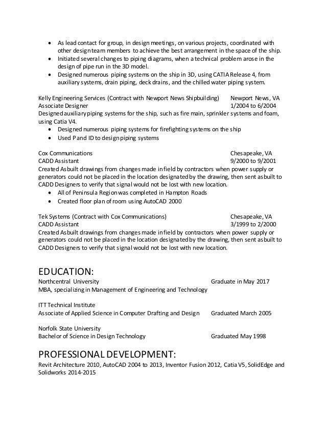 solidworks resume - Ideal.vistalist.co