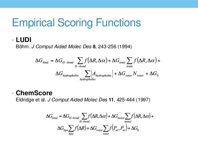 scoring functions