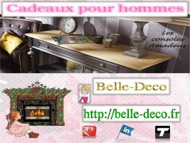 Trouvez un cadeau pour homme n'est pas  toujours facile. Le site belle-deco.fr a pensé  à vous et a sélectionné de nombreu...