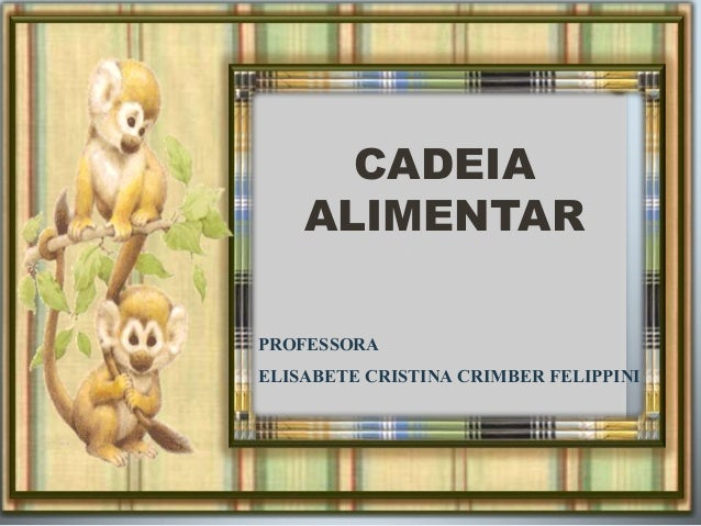 CADEIA  ALIMENTAR  PROFESSORA  ELISABETE CRISTINA CRIMBER FELIPPINI