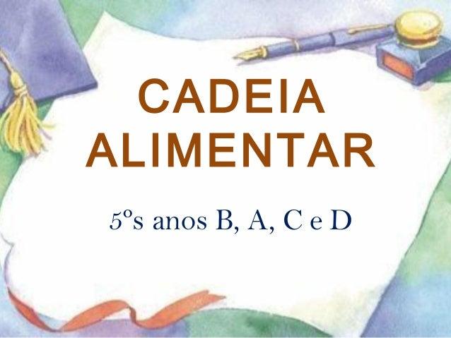 CADEIA  ALIMENTAR  5ºs anos B, A, C e D