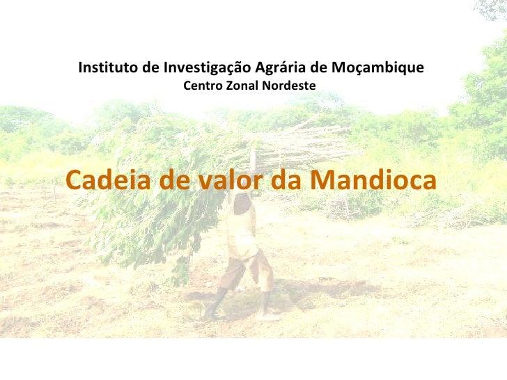 Cadeia de valor da Mandioca Instituto de Investigação Agrária de Moçambique Centro Zonal Nordeste