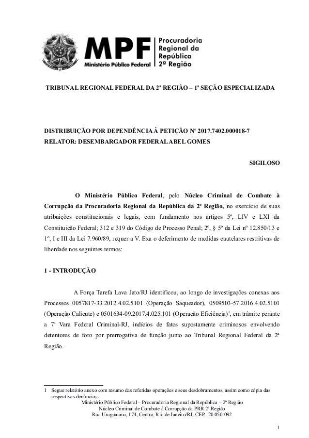 4e119bd9e Cadeia velha - Pedido de Prisão do MPF