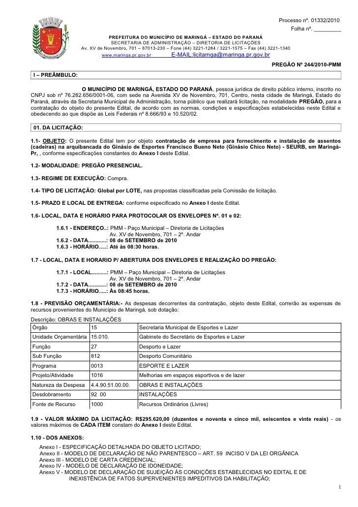 Processo nº. 01332/2010                                                                                                   ...