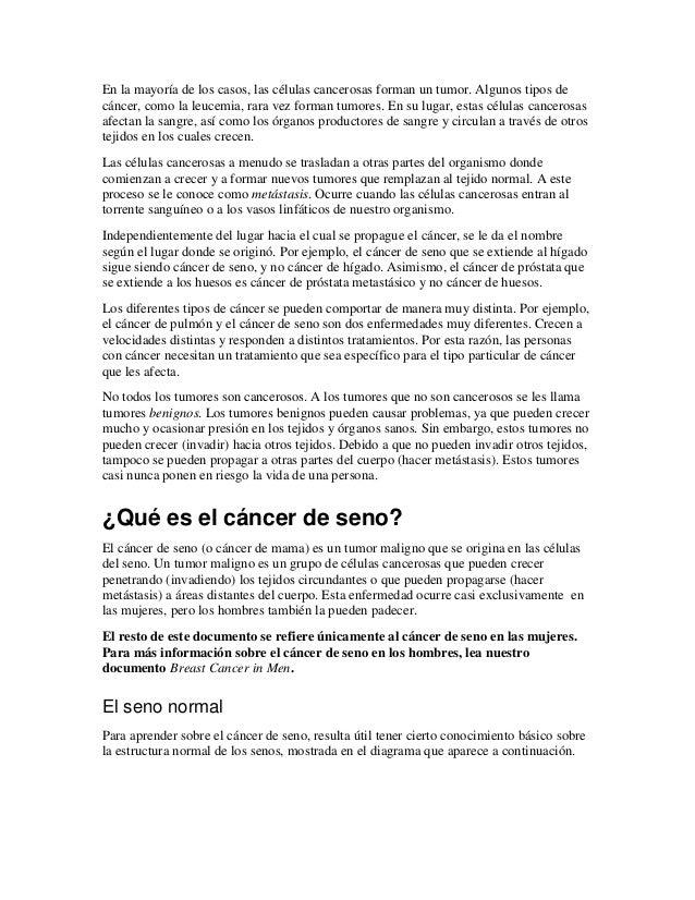 Cáncer de seno por La Sociedad Americana de Cancer