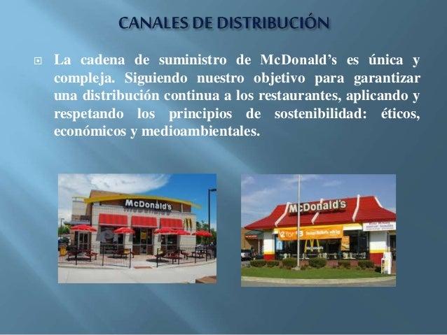 Cadena De Suministros De Mcdonald S