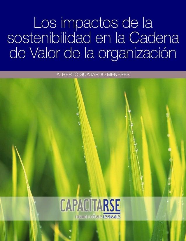 Los impactos de la sostenibilidad en la Cadena de Valor de la organización ALBERTO GUAJARDO MENESES