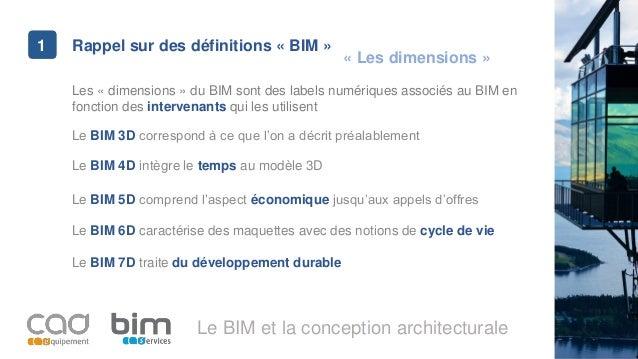 Jedisbim 12 01 2017 bim conception architecturale for Conception architecturale definition