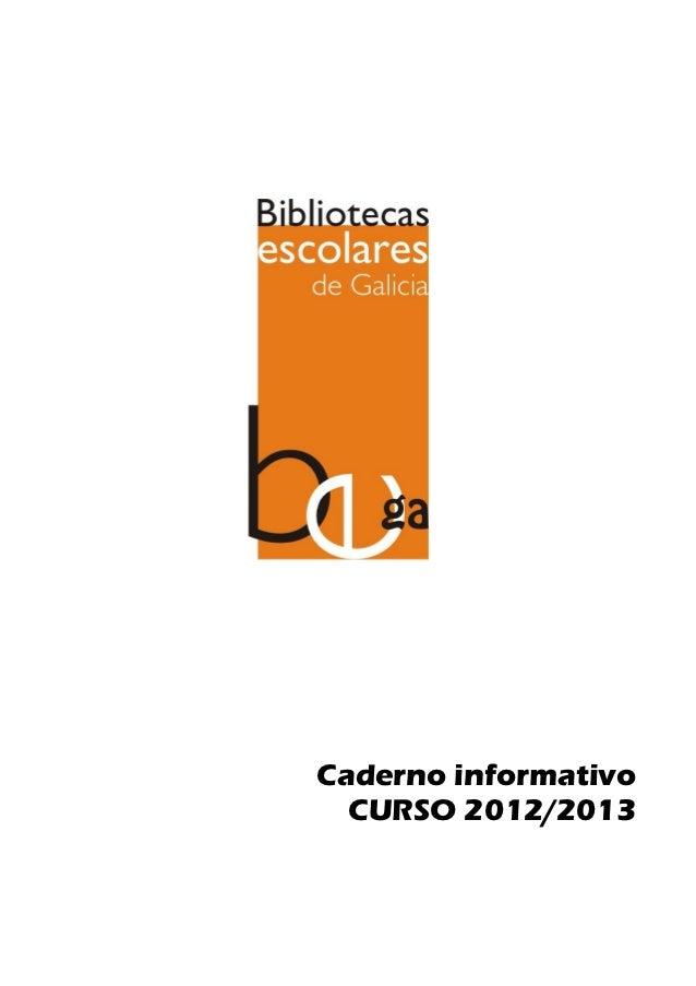 Caderno informativo  CURSO 2012/2013