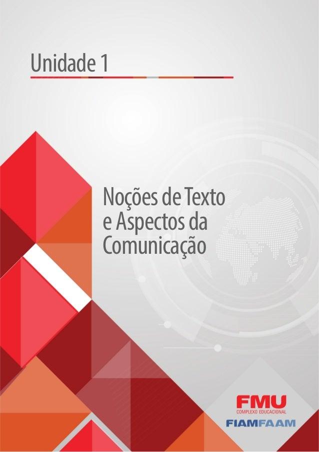 NoçõesdeTexto eAspectosda Comunicação Unidade1
