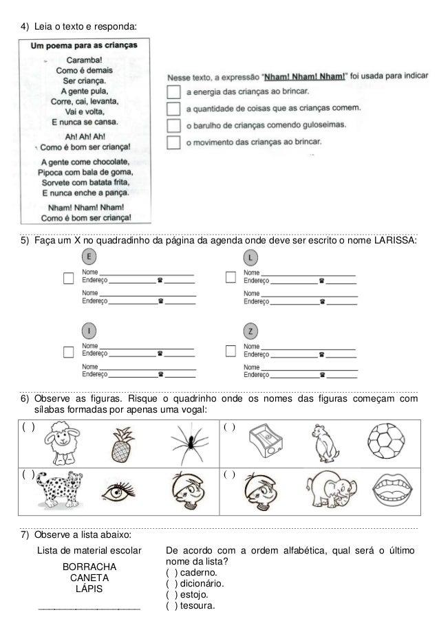 Caderno de simulados de preparação para o PROALFA