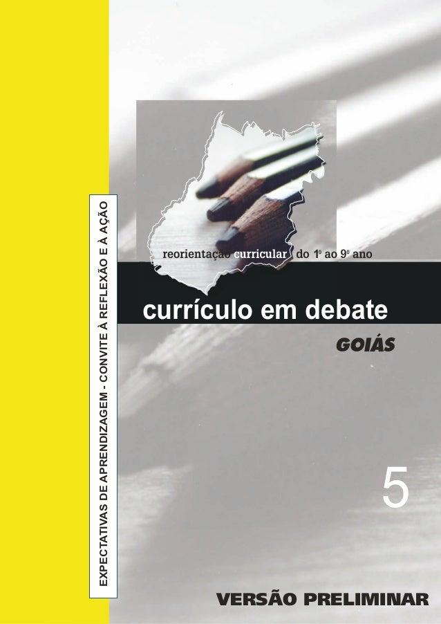 currículo em debate EXPECTATIVASDEAPRENDIZAGEM-CONVITEÀREFLEXÃOEÀAÇÃO 5 1 VERSÃO PRELIMINAR