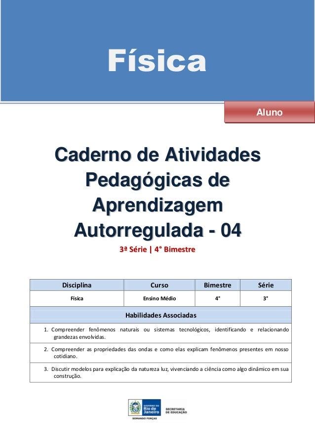 Caderno ativ auto_reguladas-alunos-3ªsérie-4ºbim2014