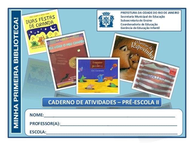 PREFEITURA DA CIDADE DO RIO DE JANEIRO Secretaria Municipal de Educação Subsecretaria de Ensino Coordenadoria de Educação ...