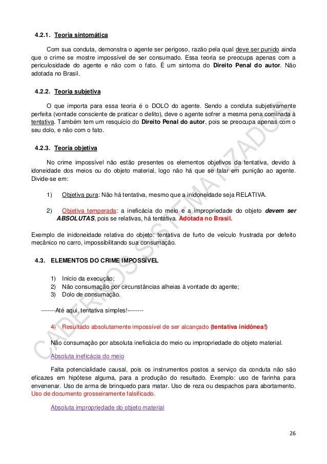 Caderno de direito penal parte geral II