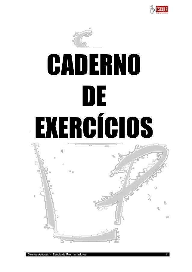 Resultado de imagem para CADERNO DE EXERCÍCIOS