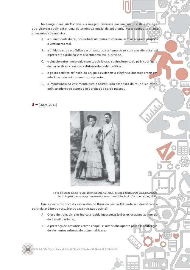 Caderno de exercícios de ciências humanas