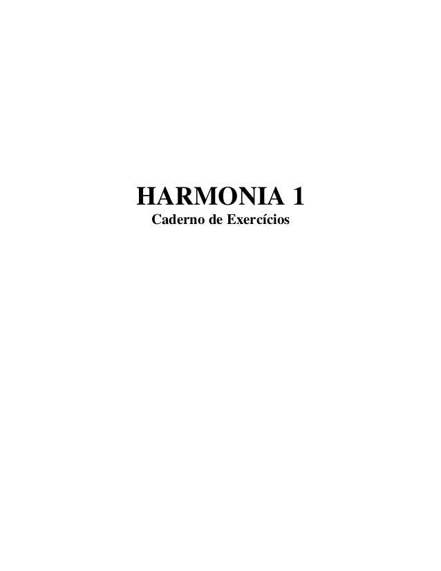 HARMONIA 1Caderno de Exercícios