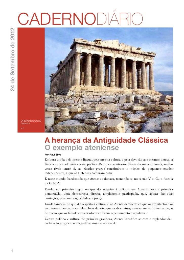 CADERNODIÁRIO24 de Setembro de 2012                         EXTERNATO LUÍS DE                         CAMÕES              ...