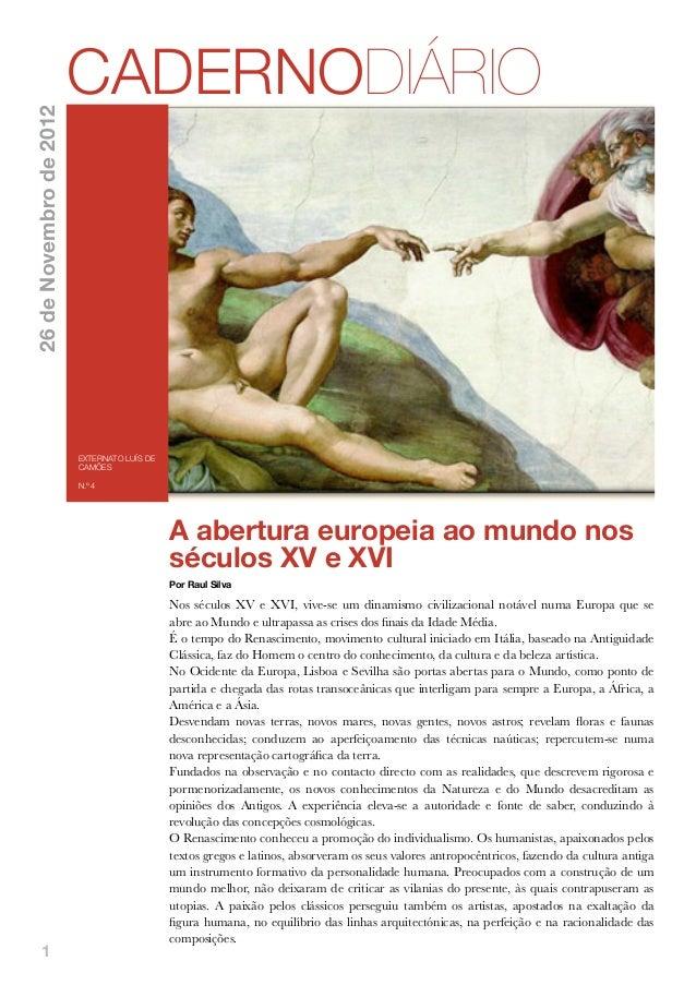 CADERNODIÁRIO26 de Novembro de 2012                         EXTERNATO LUÍS DE                         CAMÕES              ...