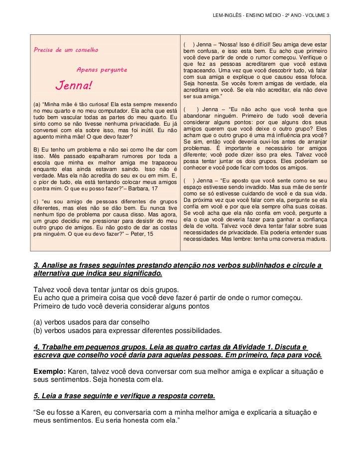 Caderno Do Aluno 2º Ano Vol3 Traduzido