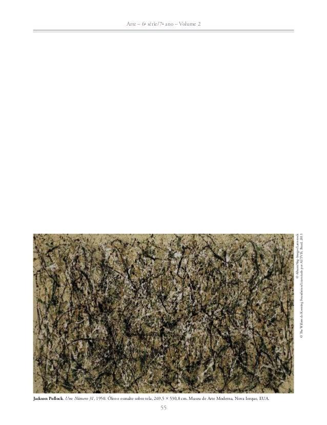 Arte – 6a série/7o ano – Volume 2  Ɣ Imagine-se sentado diante da grande tela de Jackson Pollock. Você acha que conseguiri...