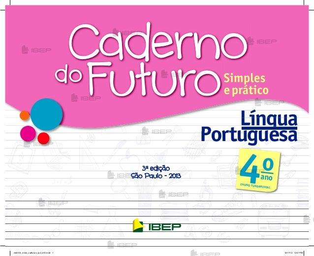 Caderno Do Futuro De Lingua Portuguesa Para O Professor 4º Ano Do En