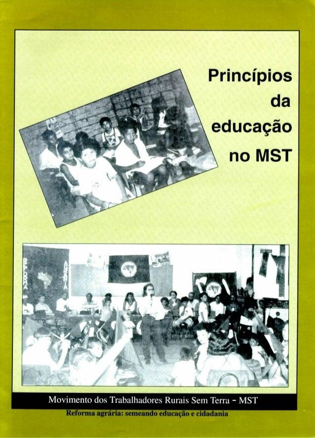Caderno educação mst