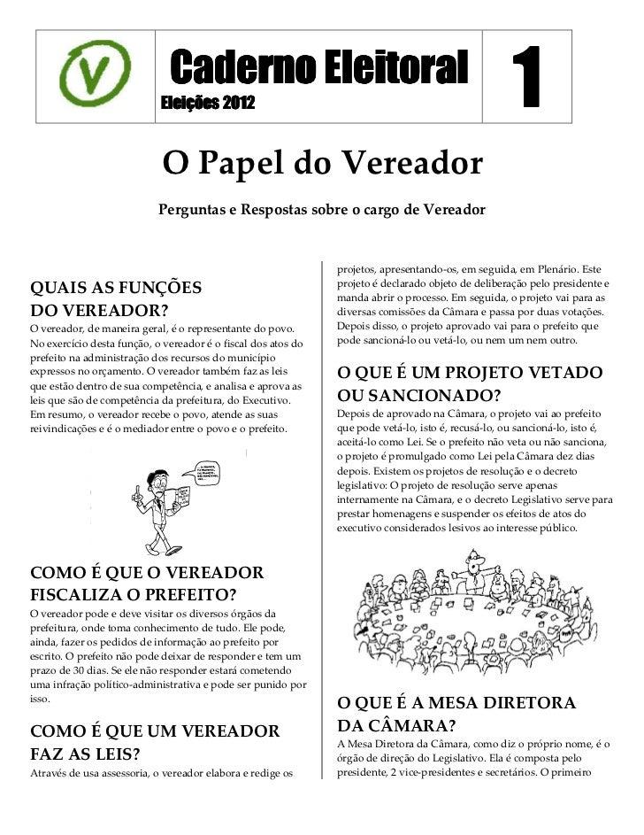 Caderno Eleitoral                            Eleições 2012                                                            1   ...