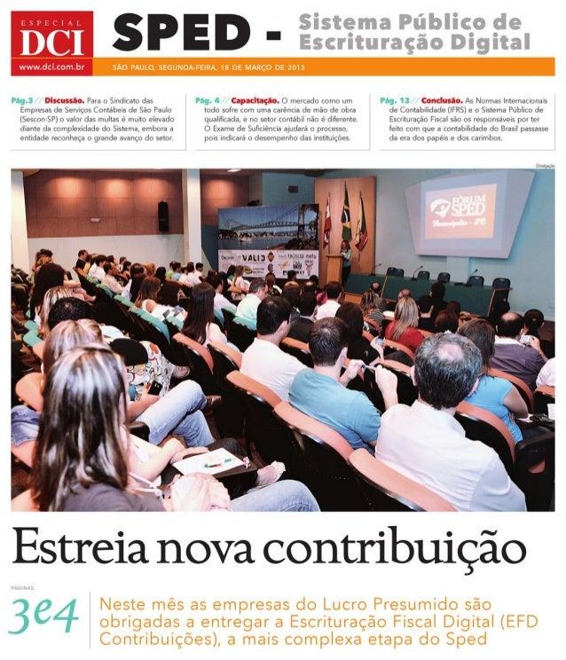 Caderno Especial sobre SPED JORNAL DCI março 2013