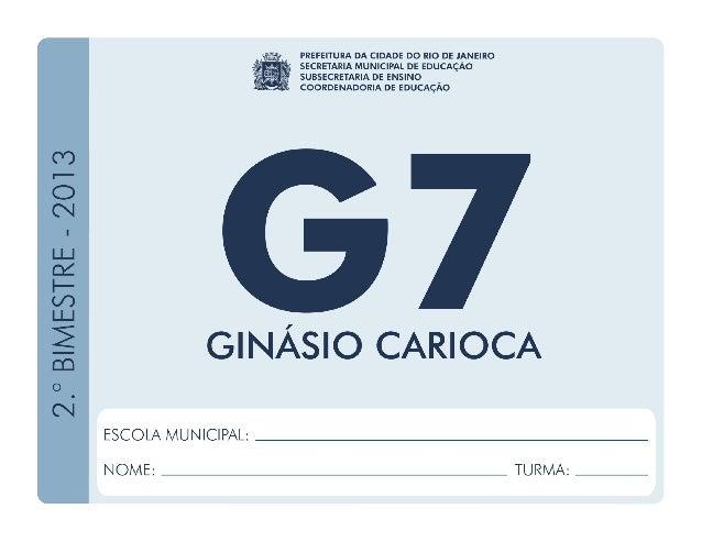 Geografia-7.ºAno 2.ºBIMESTRE/2013 EDUARDO PAES PREFEITURA DA CIDADE DO RIO DE JANEIRO CLAUDIA COSTIN SECRETARIA MUNICIPAL ...