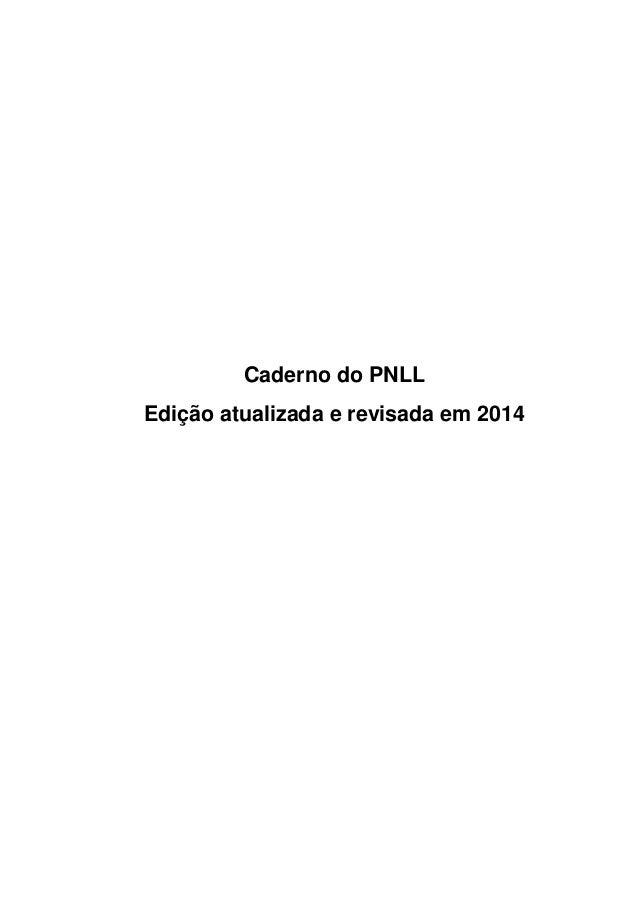 Caderno do PNLL Edição atualizada e revisada em 2014