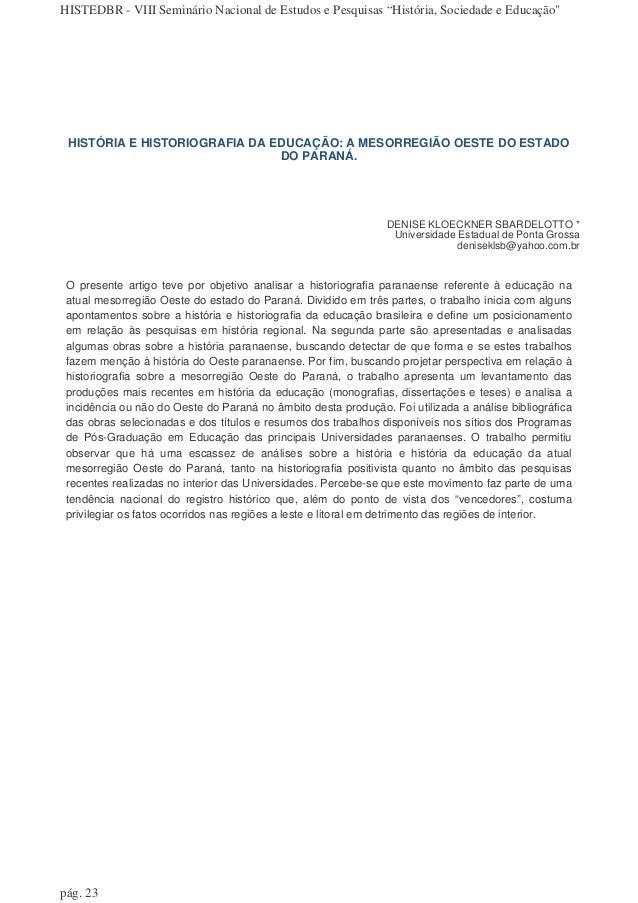 Artigo pedagogia