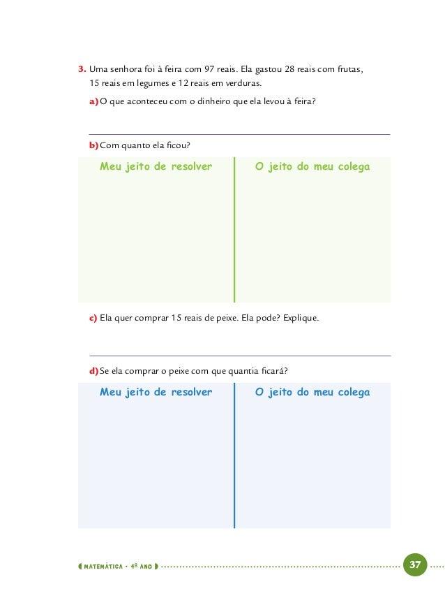 Caderno de Apoio e Aprendizagem de Matemática para o 4º ano do Ensin… b980f5a645dff