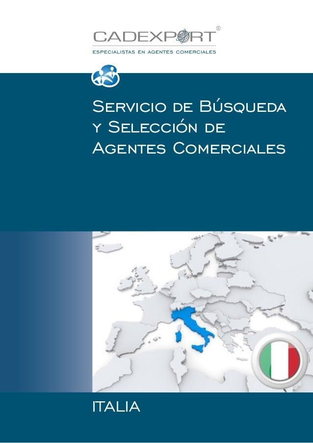 Servicio de Búsqueda y Selección de Agentes Comerciales  ITALIA