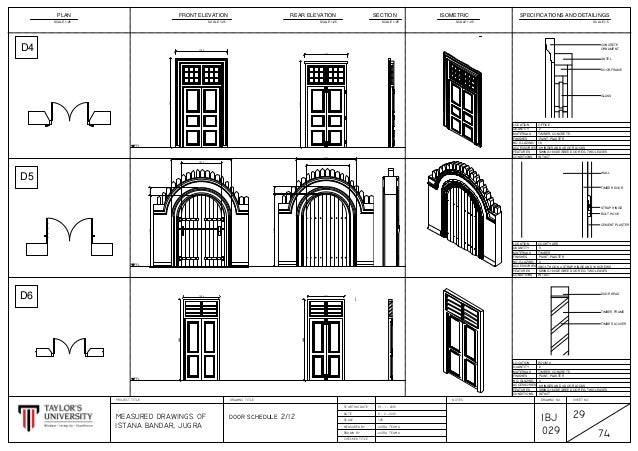 CAD DRAWINGS - METHODS OF DOCUMENTATION AND MEASURED DRAWING